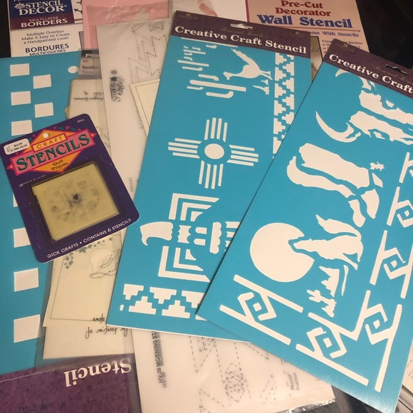 Vintage and newer stencil lot